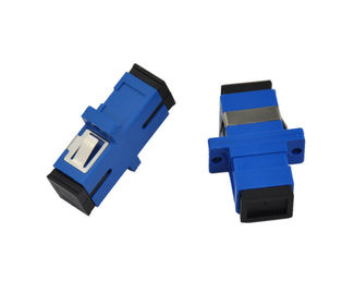 Chiny Simplex Single Mode Fiber Optic Connector Adaptery Blue Rectangle Low Concentricity Error dystrybutor